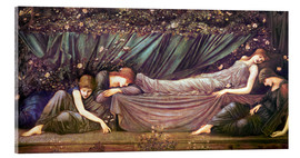 Stampa su vetro acrilico  Briar Rose - The Rose Bower - Edward Burne-Jones