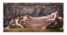 Poster  Briar Rose - The Rose Bower - Edward Burne-Jones