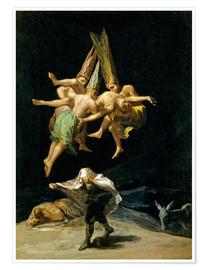 Poster  Witches' Flight - Francisco José de Goya
