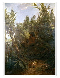 Poster Premium  Pan in the reed - Arnold Böcklin