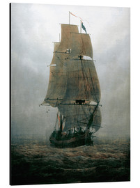 Alluminio Dibond  Sailing ship in the fog - Caspar David Friedrich
