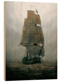 Legno  Sailing ship in the fog - Caspar David Friedrich