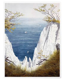 Poster Premium Chalk cliffs on Rugen island