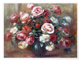 Poster Premium Still life with roses