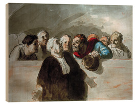 Stampa su legno  Defense Attorney - Honoré Daumier