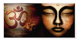 Poster Premium  Siddhartha with Om - Christine Ganz