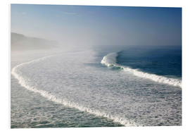 Schiuma dura  Waves at the coast in the morning mist - Walter Bibikow