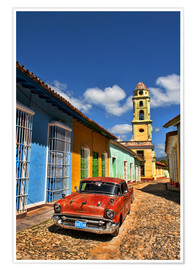 Poster Premium  Old Chevy in Trinidad - Bill Bachmann