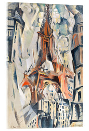 Vetro acrilico  The Eiffel Tower - Robert Delaunay
