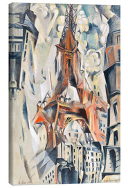Stampa su tela  The Eiffel Tower - Robert Delaunay