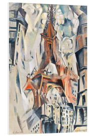 Stampa su schiuma dura  The Eiffel Tower - Robert Delaunay