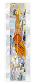 Poster Premium  The woman and the tower - Robert Delaunay