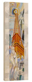 Stampa su legno  The woman and the tower - Robert Delaunay