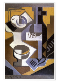 Poster Still Life with Wine Bottle