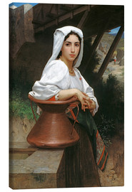 Stampa su tela  Young Italian Girl at a well - William Adolphe Bouguereau
