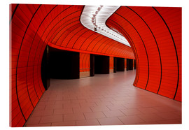 Vetro acrilico  Subway station at Marienplatz, Munich - Dennis Flaherty