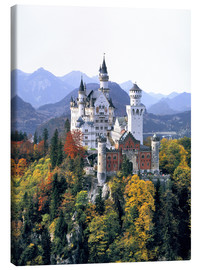 Tela  Neuschwanstein Castle in autumn - Ric Ergenbright