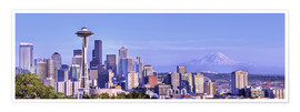 Poster  Seattle skyline from Kerry Park - Jamie & Judy Wild