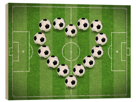 Stampa su legno  Love for Soccer - TAlex