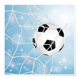 Poster Premium Soccer Ball in Net