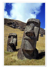 Ric Ergenbright - The strong-featured moai at Rano Raraku on Easter Island