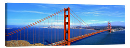 Stampa su tela  Golden Gate bridge dall'alto - Ric Ergenbright