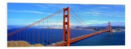 Stampa su schiuma dura  Golden Gate bridge dall'alto - Ric Ergenbright
