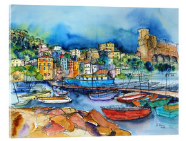 Vetro acrilico  Lerici Liguria At the harbor - Hartmut Buse