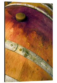 Alluminio Dibond  Closeup of an oak barrel with cork and red wine - Janis Miglavs