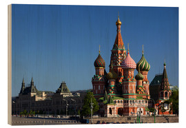 Legno  St. Basil's Cathedral on Red Square in Moscow - Walter Bibikow