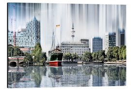 Stampa su alluminio  Hamburg Germany World Skyline - Städtecollagen