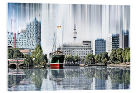 Stampa su schiuma dura  Hamburg Germany World Skyline - Städtecollagen