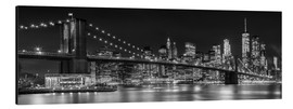Alluminio Dibond  New York City Night Skyline - Melanie Viola