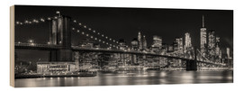 Legno  New York City Night Skyline - Melanie Viola