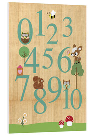 Stampa su schiuma dura  Educational Numbers - learn to count - GreenNest