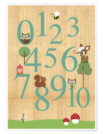Poster Premium  Educational Numbers - learn to count - GreenNest