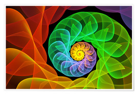 Poster Premium Fractal 'The colors and the light'