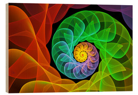 Stampa su legno  Fractal 'The colors and the light' - gabiw Art