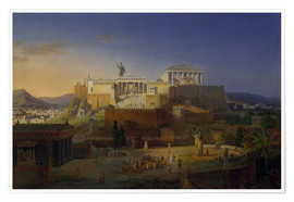 Poster Premium  The Acropolis of Athens, 1846 - Leo von Klenze