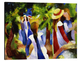 Stampa su alluminio  Girls under trees - August Macke