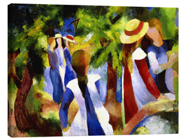 Stampa su tela  Girls under trees - August Macke