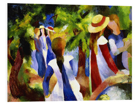 Stampa su schiuma dura  Girls under trees - August Macke