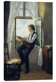 Tela  The violinist at the window in 1861 - Otto Franz Scholderer