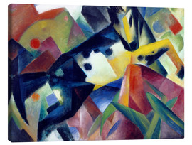 Stampa su tela  Jumping Horse - Franz Marc