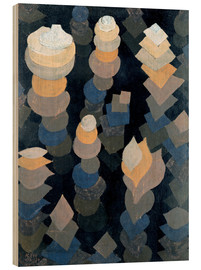 Stampa su legno  Growth of the night plants - Paul Klee