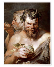 Poster Premium  Due satiri - Peter Paul Rubens