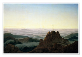Poster  Morning in the Giant Mountains - Caspar David Friedrich