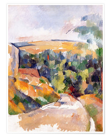 Poster Premium  Bend in the road - Paul Cézanne