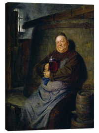 Tela  Brother master brewer of beer in the cellar. In 1902. - Eduard Grützner