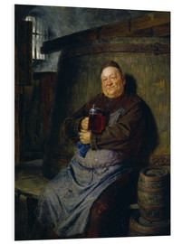 Stampa su PVC  Brother master brewer of beer in the cellar. In 1902. - Eduard Grützner